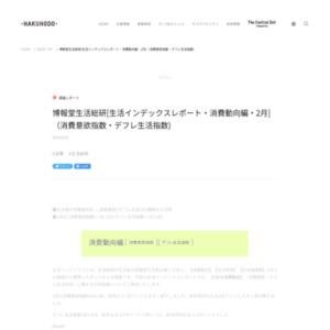 [生活インデックスレポート・消費動向編・2015年2月](消費意欲指数・デフレ生活指数)