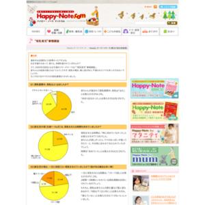 """第397回 """"母乳育児""""事情調査 2009.01.08~2009.01.14"""