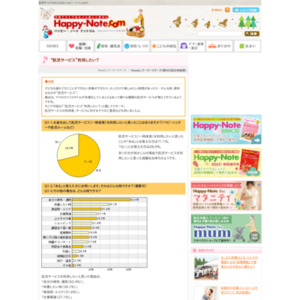 """第463回 """"託児サービス""""利用したい? 2010.05.20~2010.05.26"""