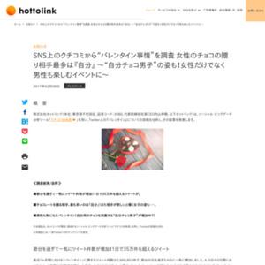 """SNS上のクチコミから""""バレンタイン事情""""を調査"""