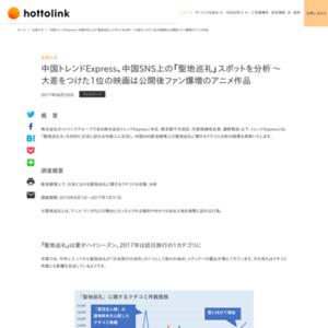 中国トレンドExpress、中国SNS上の「聖地巡礼」スポットを分析