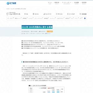 2013年 SNS利用動向に関する調査