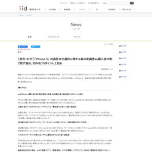 【発売1か月】「iPhone 5」 の通信会社選択に関する満足度調査