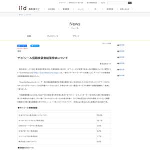 サイトシール信頼度調査