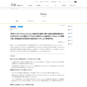 【発売1か月】「iPhone 5s/5c」の通信会社選択に関する満足度調査