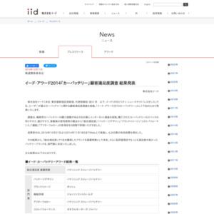 イード・アワード2014「カーバッテリー」顧客満足度調査