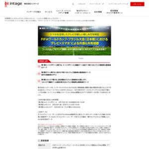 『スマホを活用したテレビの新しい楽しみ方を検証』 FIFAワールドカップ・ブラジル大会(日本戦)における'テレビ×スマホ'による共感&共有視聴