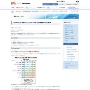 2008年度第1回 情報セキュリティに関する脅威に対する意識調査