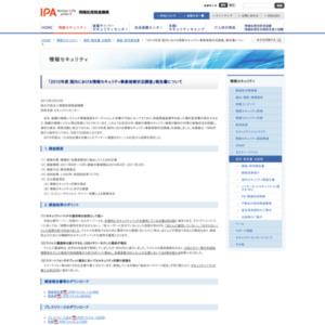 2010年度 国内における情報セキュリティ事象被害状況調査