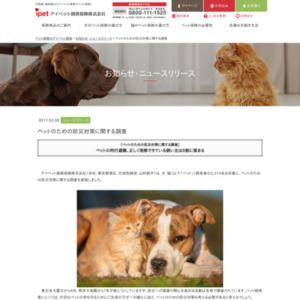 ペットのための防災対策に関する調査