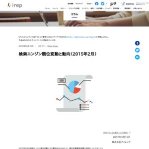 検索エンジン順位変動と動向(2015年2月)
