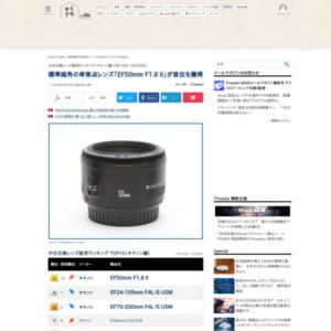 中古交換レンズ販売ランキング キヤノン編(2016年4月14日~4月20日)