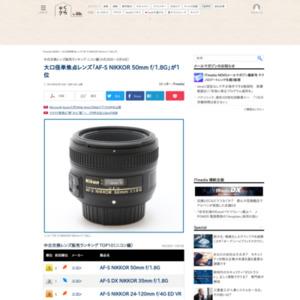 中古交換レンズ販売ランキング ニコン編(2016年4月28日~5月4日)