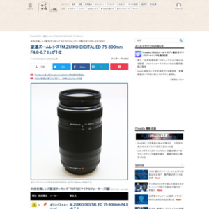 中古交換レンズ販売ランキング マイクロフォーサーズ編(2016年5月12日~5月18日)