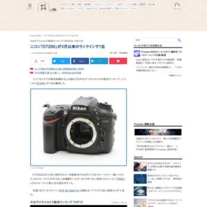 中古デジタルカメラ販売ランキング(2016年5月26日~6月1日)