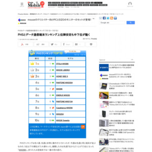PHS&データ通信端末販売ランキング(2013年7月1日~7月7日)