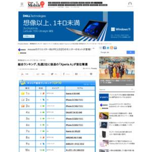 スマートフォン販売ランキング(2013年7月1日~7月7日)