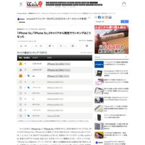 スマートフォン販売ランキング(2013年9月16日~9月22日)