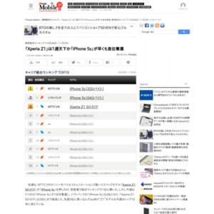 スマートフォン販売ランキング(2013年10月28日~11月3日)