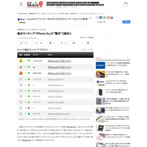 スマートフォン販売ランキング(2014年2月10日~2月16日)