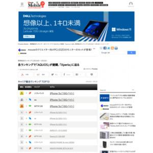 スマートフォン販売ランキング(2014年2月24日~3月2日)