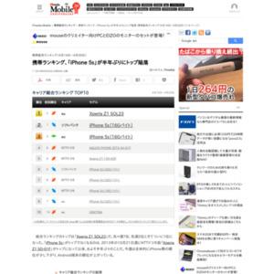 スマートフォン販売ランキング(2014年4月14日~4月20日)