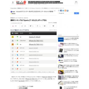 スマートフォン販売ランキング(2014年4月21日~4月27日)
