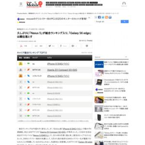 スマートフォン販売ランキング(2015年4月27日~5月3日)