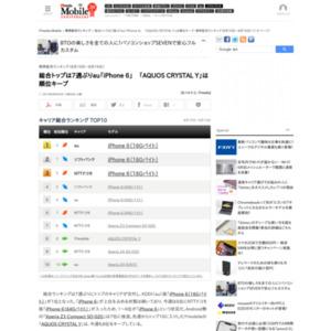 スマートフォン販売ランキング(2015年8月10日~8月16日)