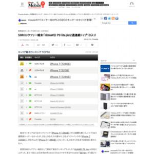スマートフォン販売ランキング(2017年2月13日~2月19日)