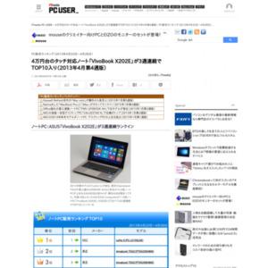 PC販売ランキング(2013年4月22日~4月28日)