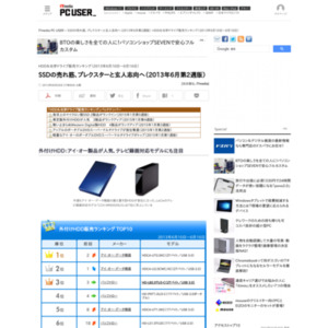 HDD&光学ドライブ販売ランキング(2013年6月10日~6月16日)