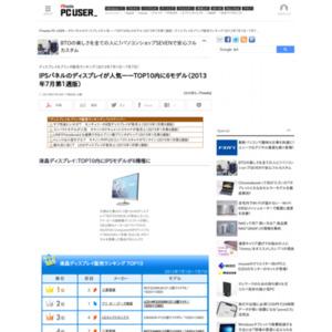 ディスプレイ&プリンタ販売ランキング(2013年7月1日~7月7日)