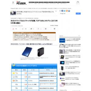 HDD&光学ドライブ販売ランキング(2013年9月23日~9月29日)