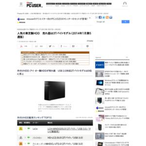 HDD&光学ドライブ販売ランキング(2013年1月27日~2月2日)