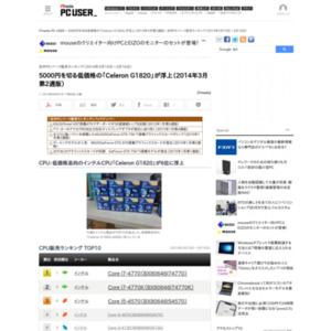 自作PCパーツ販売ランキング(2014年3月10日~3月16日)