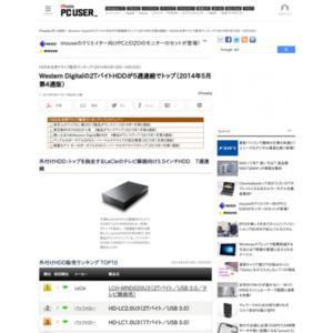 HDD&光学ドライブ販売ランキング(2014年5月18日~5月25日)