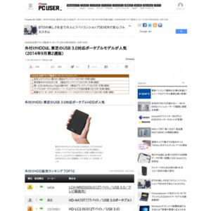 HDD&光学ドライブ販売ランキング(2014年9月8日~9月14日)