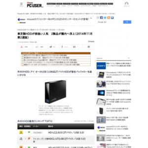 HDD&光学ドライブ販売ランキング(2014年11月10日~11月16日)
