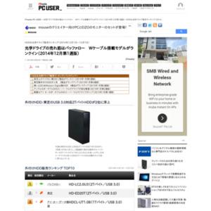 HDD&光学ドライブ販売ランキング(2014年12月1日~12月7日)
