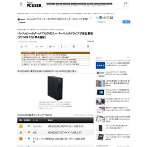 HDD&光学ドライブ販売ランキング(2014年12月15日~12月28日)