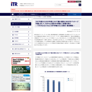 ITR Market View:ERP市場2010