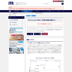 ITR Cross View:DBMS/BI市場の実態と展望2014