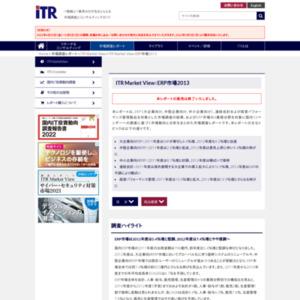 ITR Market View:ERP市場2013