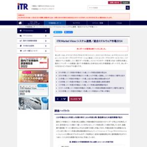 ITR Market View:システム連携/統合ミドルウェア市場2014