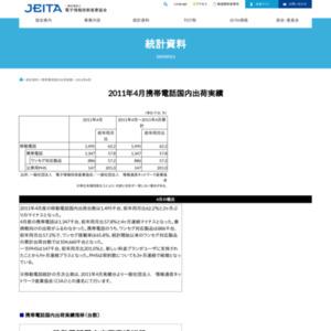 2011年4月移動電話国内出荷実績(JEITA/CIAJ)