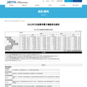 2011年5月 産業用電子機器 受注統計