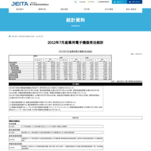 産業用電子機器受注統計(2012年7月分)