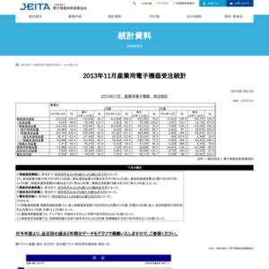 産業用電子機器受注統計(2013年11月分)