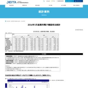 産業用電子機器受注統計(2016年5月分)